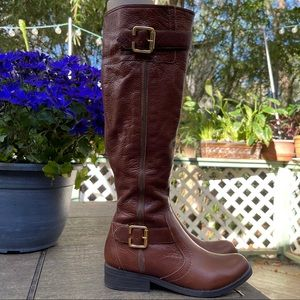 Cathy Jean Brazil Tall Brown Leather Boots | 6